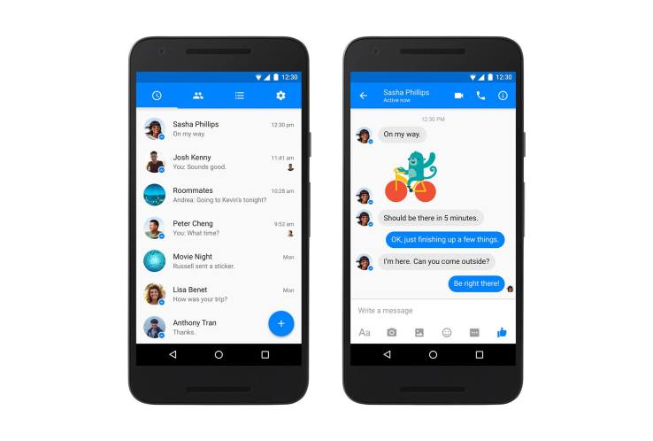 Facebook gives Messenger a Material Design makeover on Android