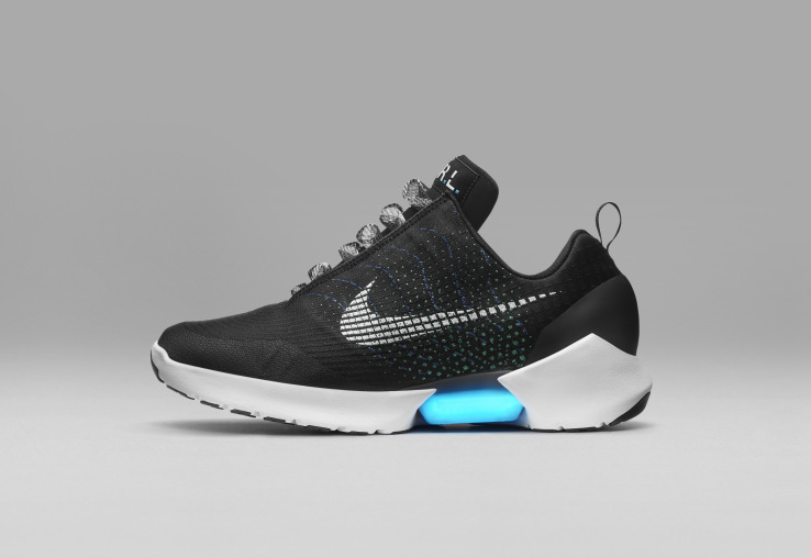 Nike just unveiled the first real power-lacing sneaker, the HyperAdapt 1.0