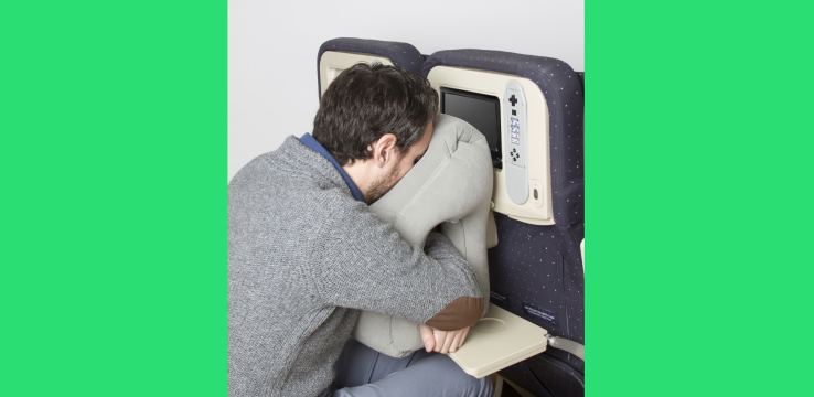 Face-plant into this airplane tray table pillow