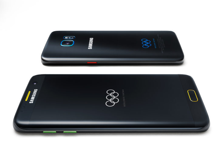 Samsung created a special Rio Olympics version of its Galaxy S7 Edge