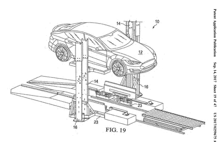 Tesla files patent for mobile battery swapping rig
