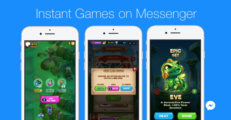 Facebook Messenger lets games monetize with purchases and ads
