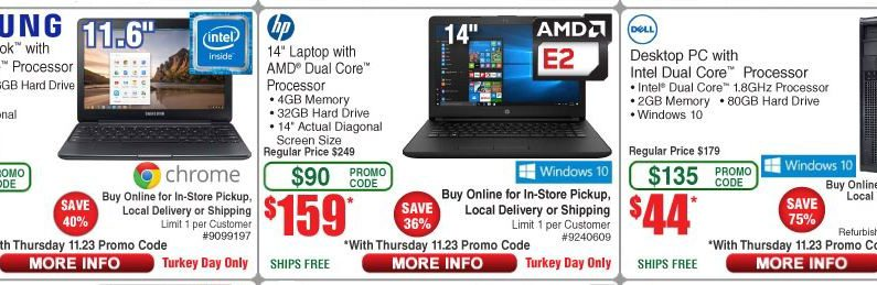 Fry's Black Friday deals include $98 Samsung Chromebook, $244 iPad, $788 MacBook Air