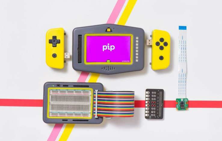 Pip is a retro games console for kids to learn coding