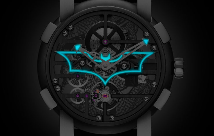 Romain-Jerome builds a Batman watch that tells you your time is up, bat