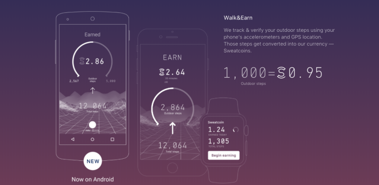 Sweatcoin lets you earn crypto for working out