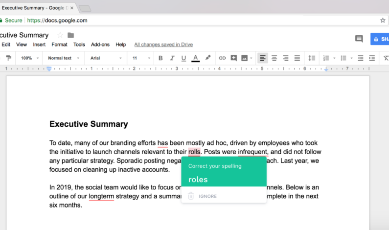 Grammarly now saves you from embarrassing mistakes in Google Docs, too