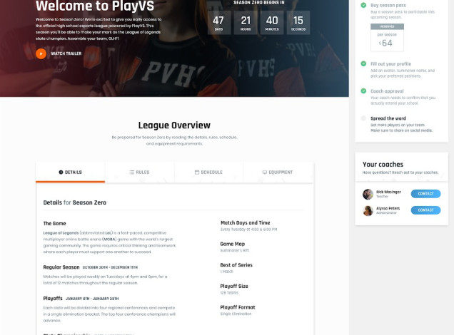 PlayVS taps League of Legends in launch of high school esports platform