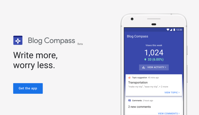 Google's newest app Blog Compass helps bloggers in India manage their sites